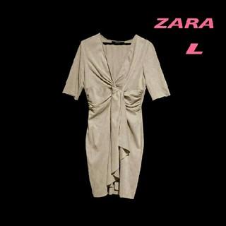 ZARA - ZARA ザラ・スウェード調ワンピース