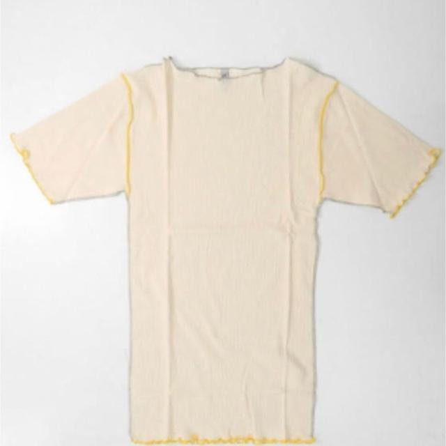 Adam et Rope'(アダムエロぺ)のbaserange  ベースレンジ コットンリブTシャツ  レディースのトップス(Tシャツ(半袖/袖なし))の商品写真