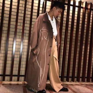 ヨウジヤマモト(Yohji Yamamoto)の【美品】17aw yohji yamamoto pour homme 抜染コート(ステンカラーコート)