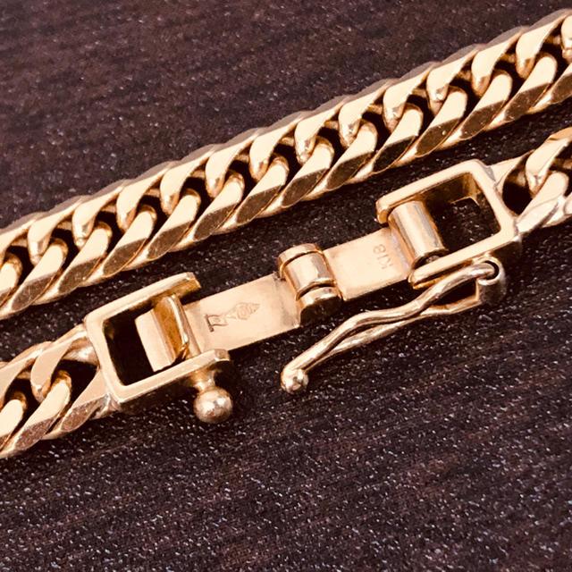 18金 喜平 ネックレス 6面ダブル 30.1g 50cm K18キヘイ メンズのアクセサリー(ネックレス)の商品写真