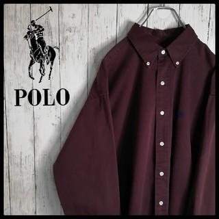 POLO RALPH LAUREN - 【希少カラー】【ラルフローレン】【ビッグサイズ】【刺繍ロゴ】【BD長袖シャツ】