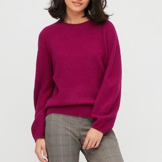 ユニクロ(UNIQLO)の3Dラムブレンドクルーネックセーター(長袖)(ニット/セーター)
