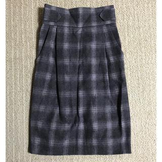 ミスティウーマン(mysty woman)の新品☆ミスティウーマン チェックタイトスカート(ひざ丈スカート)