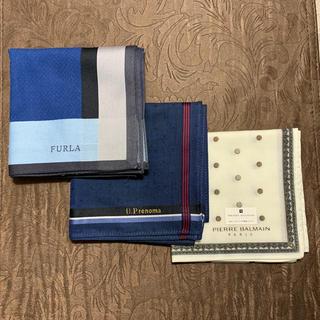フルラ(Furla)の紳士 ブランドハンカチ  3枚セット(ハンカチ/ポケットチーフ)