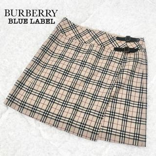 BURBERRY BLUE LABEL - 【極美品】バーバリーブルーレーベル 台形ミニスカート