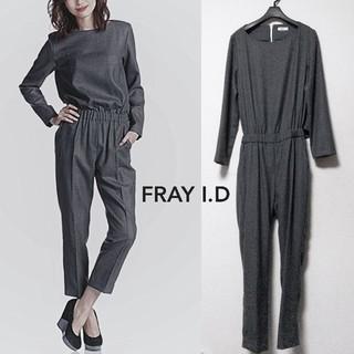 フレイアイディー(FRAY I.D)の【FRAY I.D】ウール 長袖 つなぎ オールインワン(オールインワン)