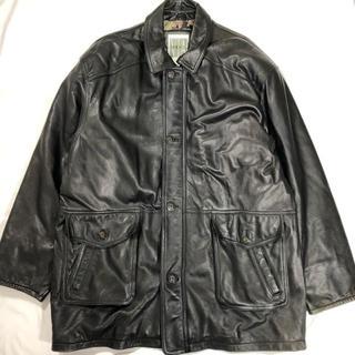 JOHN LAWRENCE SULLIVAN - VINTAGE over-size Leather zip Jacket