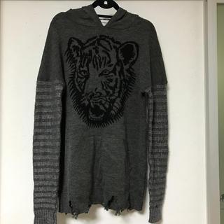 フード付きセーター(ニット/セーター)