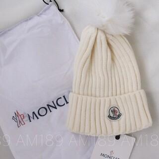 MONCLER - NCLER モンクレール ニット帽 ビーニー  ホワイト