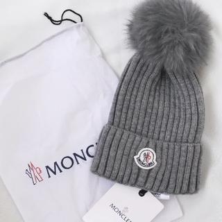 MONCLER - MONCLER モンクレール ニット帽 ビーニー グレー