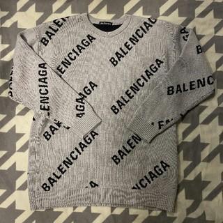 バレンシアガ(Balenciaga)のバレンシアガ プールオーバー ロゴ入り 二っと セーター(ニット/セーター)