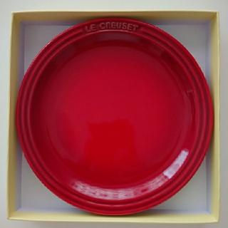 LE CREUSET プレート 皿 19cm レッド