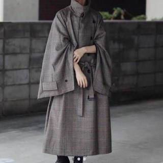 サンシー(SUNSEA)のstein / 19aw/Lay Oversized Overlap Coat(トレンチコート)