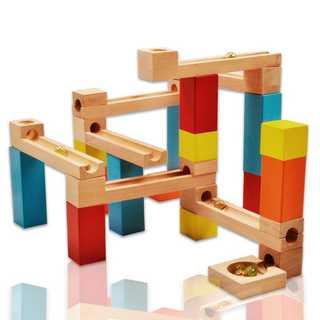 ビーズコースター 木製おもちゃ スロープ 33点セット