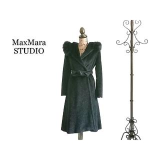 Max Mara - 高級 MaxMara STUDIO マックスマーラ コート ブラック