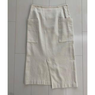 ノーブル(Noble)のNOBLE♡白スカート(ひざ丈スカート)