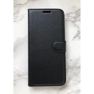 ギャラクシー(Galaxy)の人気商品!シンプルレザー手帳型ケース GalaxyS9 ブラック 黒(Androidケース)