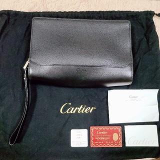 カルティエ(Cartier)のCartier セカンドバッグ  黒(セカンドバッグ/クラッチバッグ)