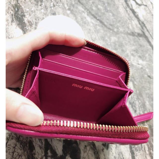 miumiu(ミュウミュウ)の超美品   miumiu コインケース 財布 ミニ財布 ミニウォレット  レディースのファッション小物(コインケース)の商品写真
