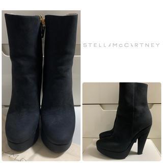 Stella McCartney - ステラマッカートニー ブラックスエード ブーツ