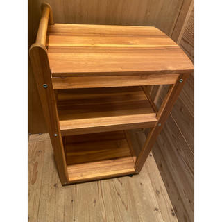 IKEA - IKEA☆イケア RANSBY ワゴンテーブル☆キッチンワゴン/木製