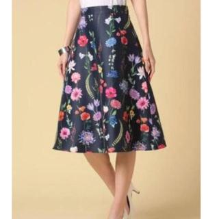 ANAYI - アナイ ボタニカルフラワープリントスカート  上品 花柄スカート