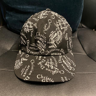 ディオールオム(DIOR HOMME)の本物ディオールオム総柄アトリエ帽子ATELIERキャップ正規品DIORHOMME(キャップ)