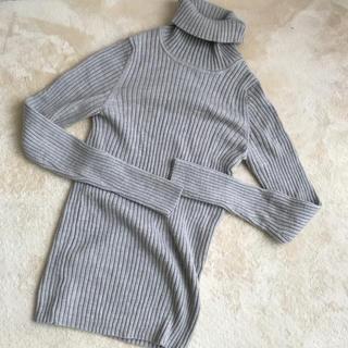 MUJI (無印良品) - 無印良品 洗えるワイドリブ編みタートルネック