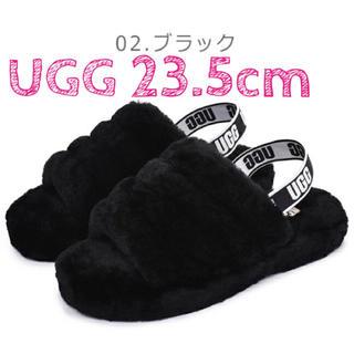 UGG - UGG アグ ファーサンダル 新品 ♡ブラック23.5