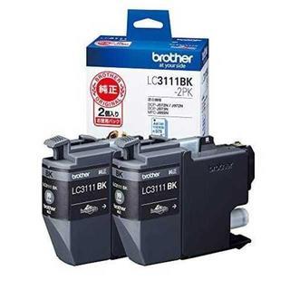 ブラザー(brother)の【brother純正】インクカートリッジブラック2個パック LC3111BK-2(PC周辺機器)