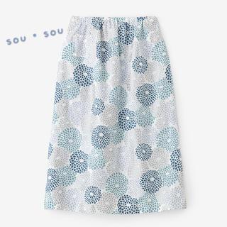 SOU・SOU - 新品 SOU・SOU ソウソウ 麻 双筒衣 スカート 菊づくし フリーサイズ