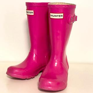 ハンター(HUNTER)のHUNTER ハンター 17cm 長靴 レインブーツ キッズ 女の子 ピンク(長靴/レインシューズ)