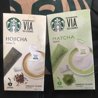 Starbucks Coffee - 抹茶,ほうじ茶  各5本   Starbucks ヴィア®