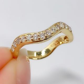 リング K18YG ダイヤモンド 0.35 指輪