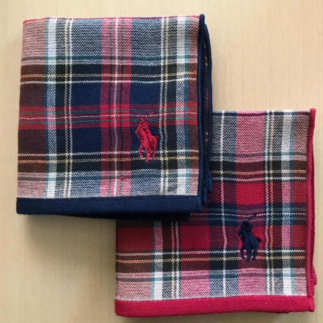 Ralph Lauren(ラルフローレン)のラルフローレン タオルハンカチ 新品 レディースのファッション小物(ハンカチ)の商品写真