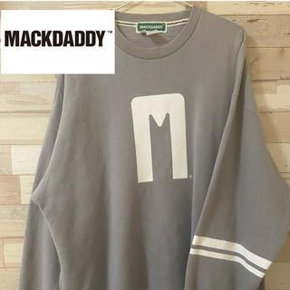 マックダディー(MACKDADDY)の【ビックシルエット】マックダディ厚手ビックロゴスウェット XLサイズ(スウェット)
