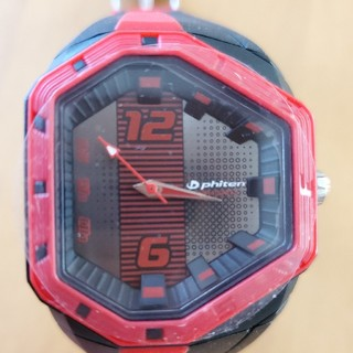 phiten 腕時計 黒×赤
