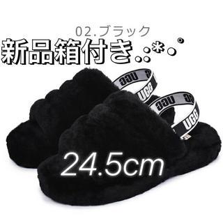 UGG - UGG アグ ファーサンダル 新品 24.5cm