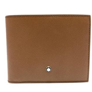 モンブラン(MONTBLANC)のモンブラン 札入れ美品  - ブラウン レザー(財布)