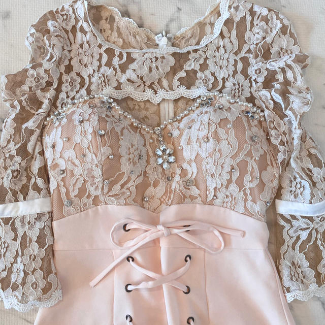 Andy(アンディ)の破格❤︎新品 高級ミニドレス  キャバドレス  袖あり レディースのフォーマル/ドレス(ミニドレス)の商品写真