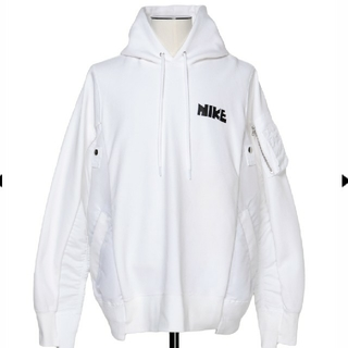 sacai - Nike x sacai Hoodie パーカー ホワイト xs