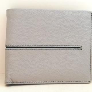 トッズ(TOD'S)のトッズ 2つ折り財布 - ライトグレー×黒(財布)