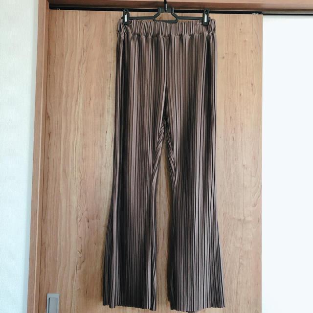 しまむら(シマムラ)のしまむら プリーツパンツ ブラウン レディースのパンツ(カジュアルパンツ)の商品写真