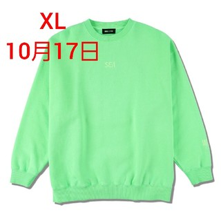 SEA - SEA (PIGMENT-DYE) SWEATSHIRT / FS GREEN