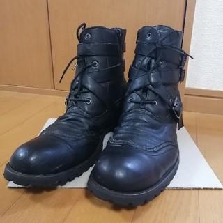 レザー ブーツ ブラック メンズ ゲッタグリップ バイク 28cm(ブーツ)