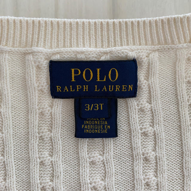 Ralph Lauren(ラルフローレン)のラルフローレン  カーディガン キッズ/ベビー/マタニティのキッズ服女の子用(90cm~)(カーディガン)の商品写真