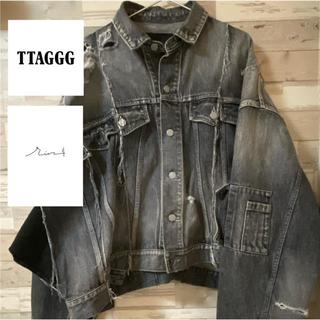 【TTAGGG】ビックシルエット再構築ダメージデニムジャケット(Gジャン/デニムジャケット)