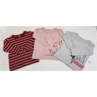 MUJI (無印良品) - 無印用品 西松屋 ロンT 80 女の子 長袖 Tシャツ