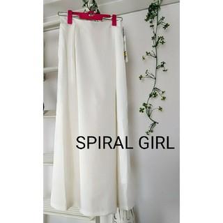 スパイラルガール(SPIRAL GIRL)のスパイラルガール サロペット ワイドパンツ ホワイト(カジュアルパンツ)