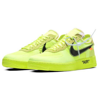NIKE - NIKE AIR FORCE 1 LOW OFF-WHITE VOLT ボルト
